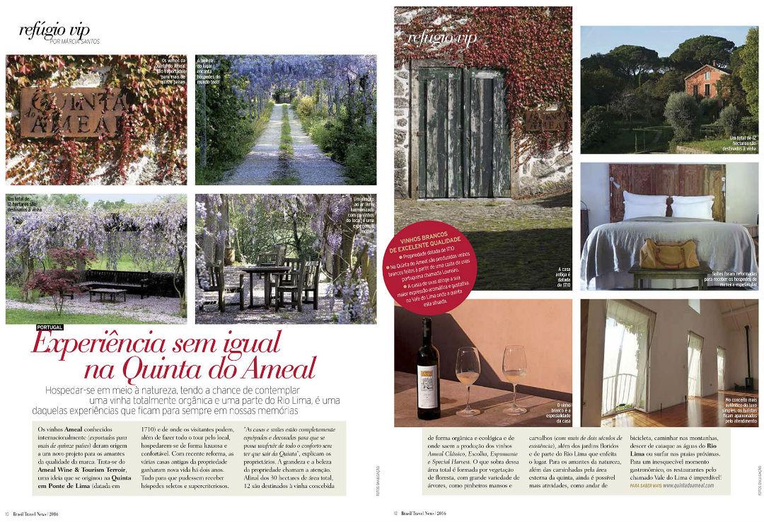 imagem Revista Brasil Travel News: Enoturismo na Quinta do Ameal