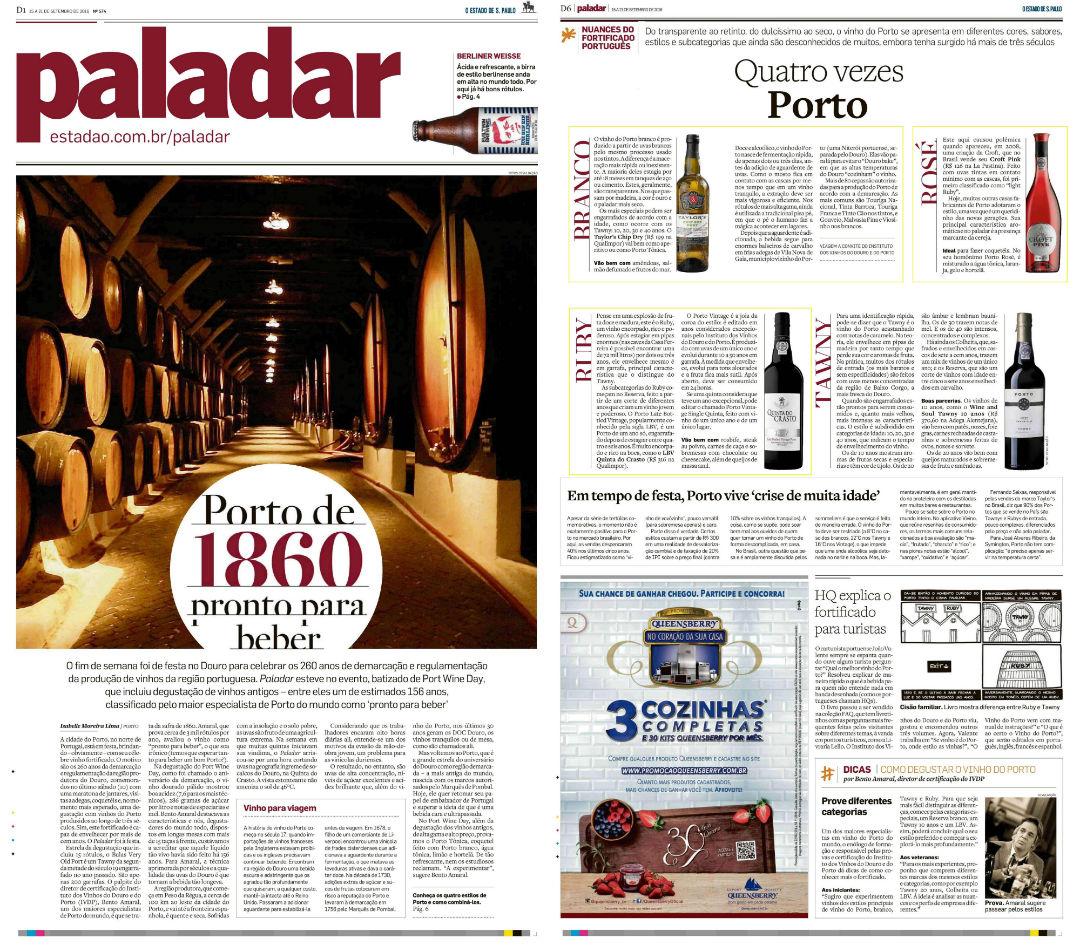 imagem Paladar (Jornal O Estado de S. Paulo): vinhos do Porto