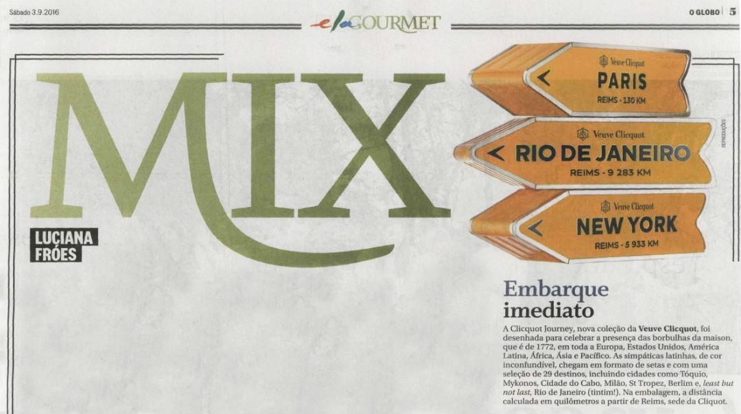 Jornal O Globo: Clicquot Journey